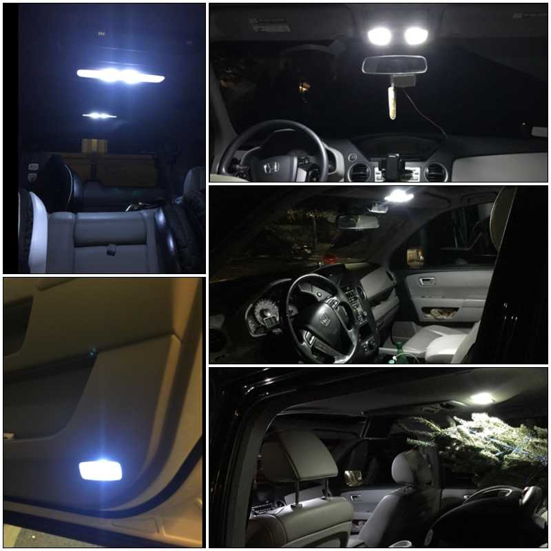 Direct Fit For Honda Accord 2017 6000k White Car Interior Led Package Kit Bulbs