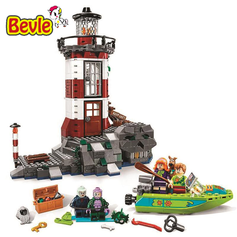 Bela 10431 Scooby Doo Haunted Lighthouse Shaggy/Daphne Building Block Toys Compatible with Legoings Scooby-Doo 79503 bela scooby doo haunted lighthouse building block model kits scooby doo marvel toys compatible legoe