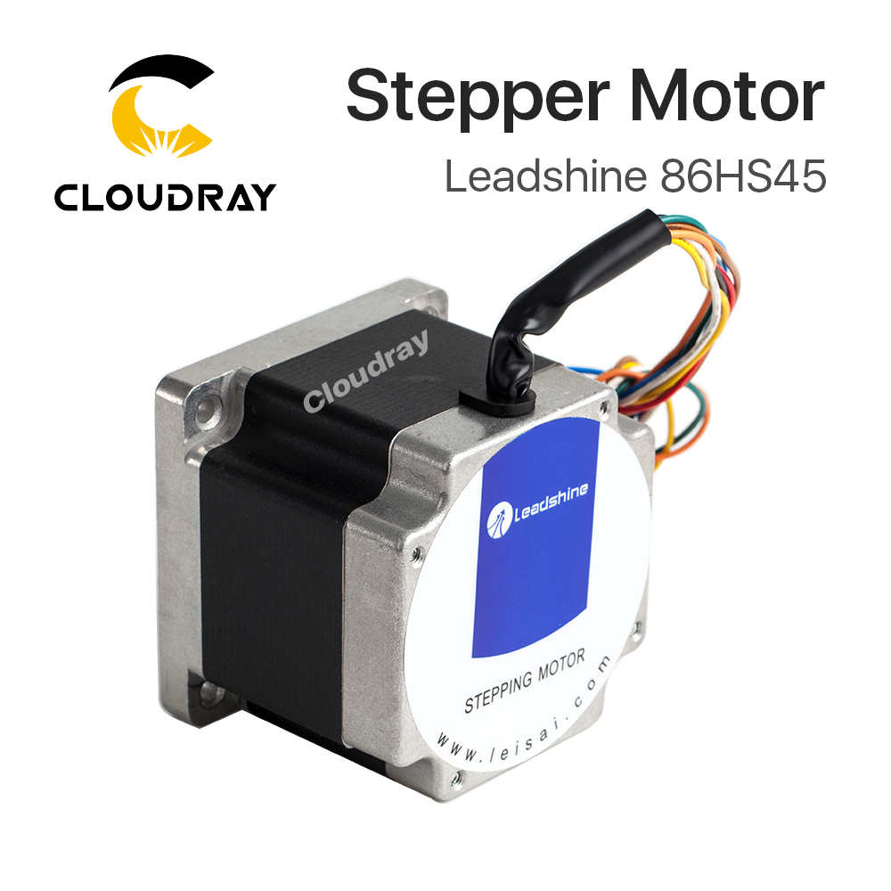 Leadshine 2 phase Stepper Motor 86HS45 for NEMA34 6A length 80mm Shaft 12.7mm 2 phase stepper motor and drive m542 86hs45 4 5n m new