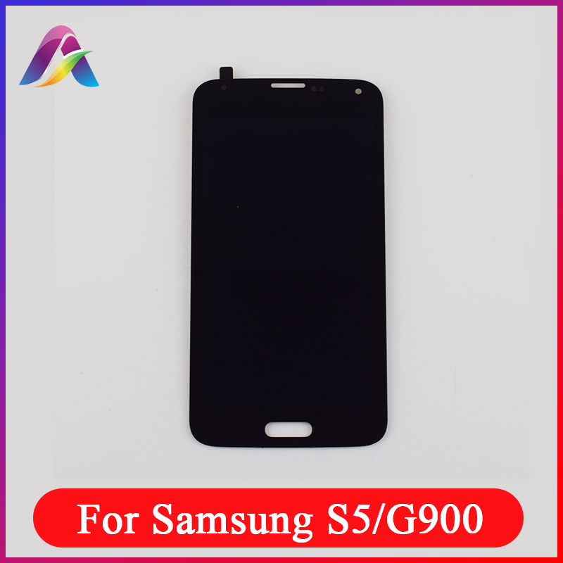 LCD For Samsung <font><b>Galaxy</b></font> <font><b>S5</b></font> <font><b>G900</b></font> <font><b>SM</b></font>- G900F <font><b>Display</b></font> G900M G900P G900MD LCD <font><b>Display</b></font> Panel + Touch Screen Digitizer Sensor Assembly image