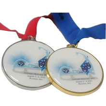 Custom printed Epoxy Enamel Medal Green and cheap metal medal
