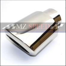 Carro Universal Dupla del coche silenciador de Acero Inoxidable punta punta del fuga tubo de escape Silenciador de la cola