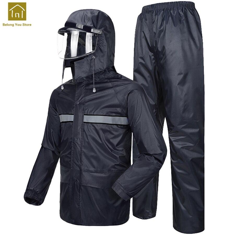 Motorcycle Rain Suit Fishing Women Bicycle Bike Raincoat Jacket Men Chaqueta Mujer Outdoor Hiking Rain Coat Waterproof WKR114