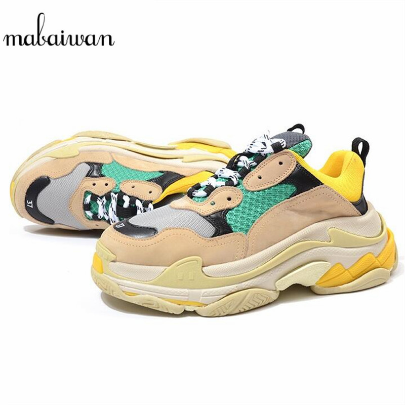 Mabaiwan 2018 New Fashion Women Sneakers Ankle Boots Platform Creepers Casual Shoes Women Trainers Breathable Chaussure Flats women creepers shoes 2015 summer breathable white gauze hollow platform shoes women fashion sandals x525 50