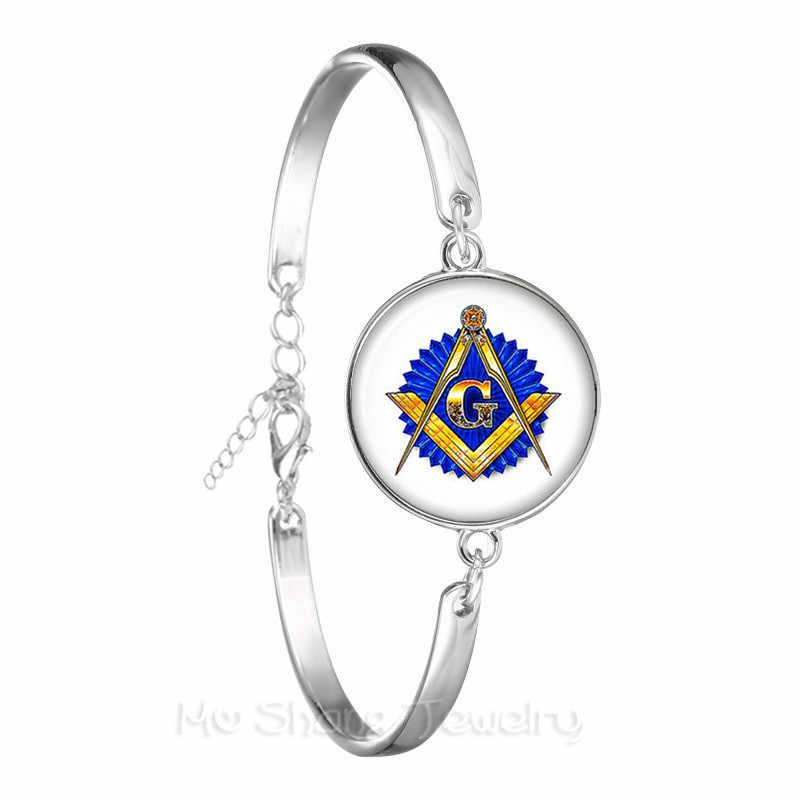 Free-mason Logo Bracelet chaîne Bracelet plaqué argent pour femmes et hommes moqué les oiseaux bijoux pour la Justice et la liberté