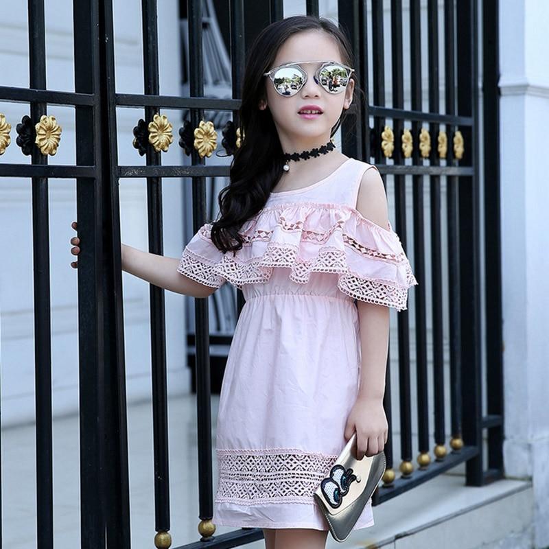 Baby girl dress 2017 yay Uşaqlar içi boş krujeva Princess Infantil - Uşaq geyimləri - Fotoqrafiya 4