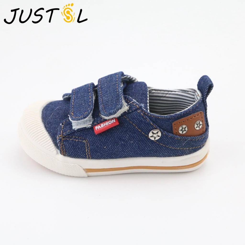 JUSTSL Children canvas shoes spring autumn baby toddler shoes boys girls casual shoes kids fashion sneakers size21-30