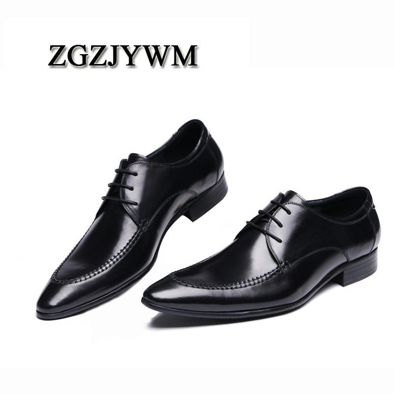 De Zapatos Los Genuino Encaje Italia Negocios Hombres Mocasines Lujo La Zgzjywm Marca Boda Negro Cuero Vestido Calidad Oficina Superior TwdSHq