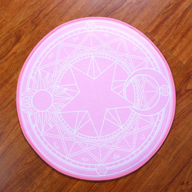 Pink Purple Carpets for Living room 100cm Round Kids Bedroom Carpet Children Cartoon rug Child pad Computer Chair Mats alfombra