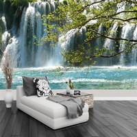 beibehang Waterfall natural landscape television background wall modern minimalist background wall custom large fresco wallpaper