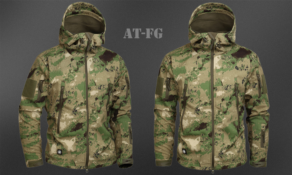 Men's Military Camouflage Fleece Jacket Army Tactical Clothing 44