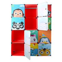 DI Ycartoon hanging clothes wardrobe extra large eco friendly Wire combined type child simple cabinet wardrobe storage box