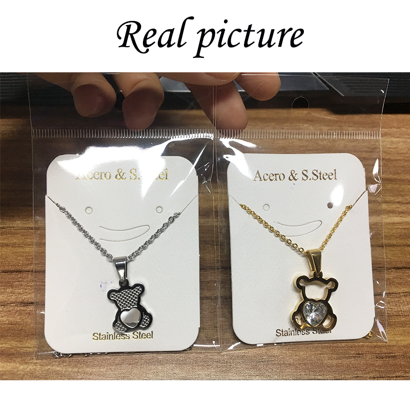 HTB1Ft6bQNnaK1RjSZFtq6zC2VXad - Charm Hollow Cubic Zircon Bear Chain Necklaces For Women Gold Color Animal Necklace Jewelry Gift