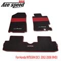 Velocidade Ace-Para Mugen tapetes Tapete Do Carro Apto Para Honda INTEGRA DC5/DC2 Accord CL7 (RHD)