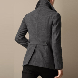 Image 3 - Men Short Coat Wool Blending Outerwear 2020 Spring Autumn Male Double Breasted Short Solid Plus Size Woolen coat