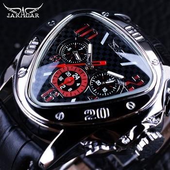 Jaragar Men's Sport Racing Geometric Triangle Design Automatic Watches