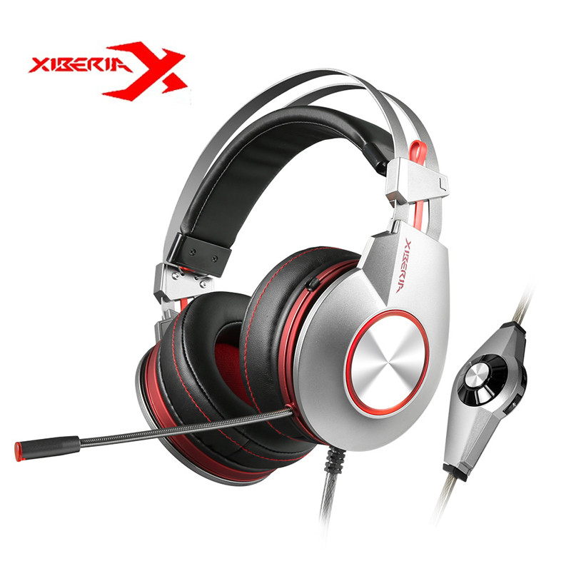 XIBERIA K5 USB 7.1 Vibration Gaming Headset Headphones With Microphone Deep Bass LED Light PC Gaming Headphones Retail Package xiberia k9 7 1 vibration usb gaming headset headphones deep bass led light headsets with microphone for pc gamer retail package