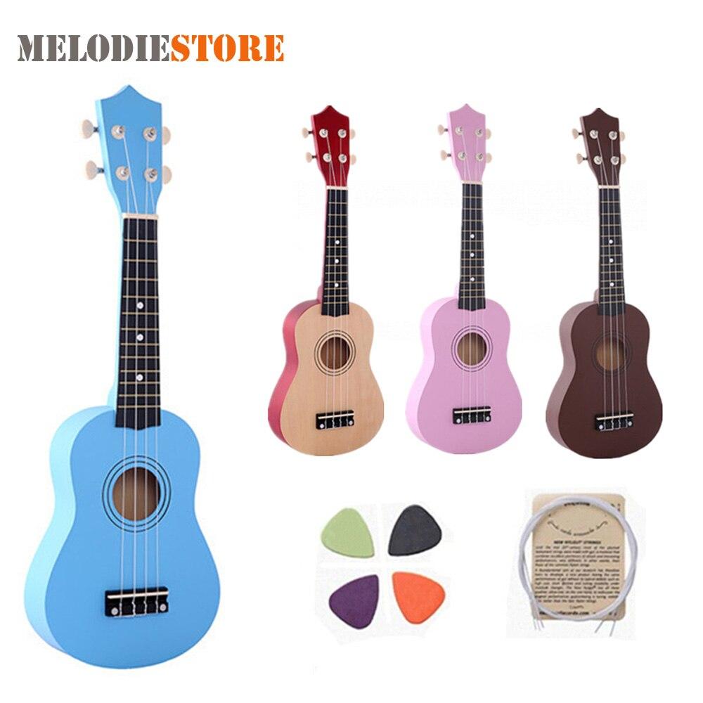21 zoll Ukulele Anfänger Hawaii 4 Schnur-gitarre Ukulele für Kinder Kinder Mädchen Weihnachtsgeschenke + Nylon Saiten + Abholen