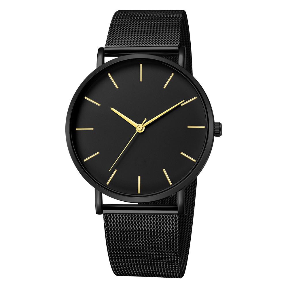 Montre Femme Modern Fashion Reloj Mujer Black Quartz Watch Women Mesh Stainless Steel Bracelet Casual Wrist Watch for Woman - women-watches