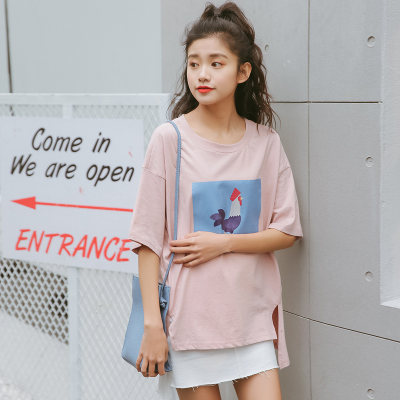 bc51ba4f7e bts t shirts women summer 2017 korean style harajuku shirt women spring fashion  retro sweet kawaii pink print cock t shirt women-in T-Shirts from Women's  ...