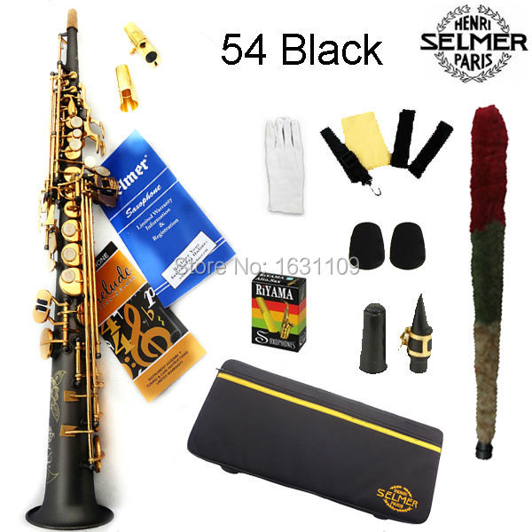 Cheap Free shipping EMS Genuine France Selmer Soprano Saxophone 54 Professional B Frosted Sax mouthpiece With Case and Accessories