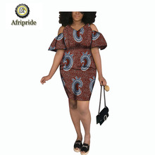 2019 african dresses for women AFRIPRIDE dashiki bazin riche ankara print dress spring&autumn wax batik S1825038