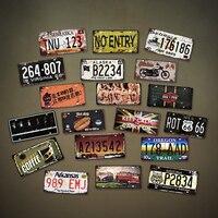 США винтажные металлические жестяные знаки американский номер автомобиля лицензии пластинчатая доска плакат Бар Клуб кафе стены гаража до...