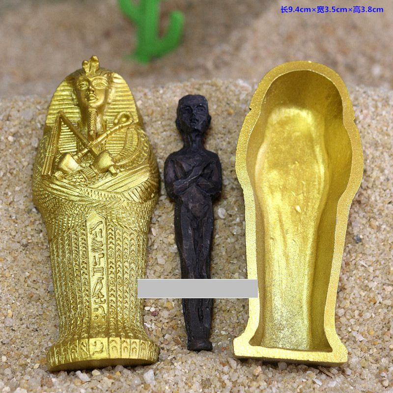 1pcs Resin Ancient Egyptian Coffin Figurine Sculpture Egypt Mummy Statue Small Ornaments Miniature Model Fish Tank Decoration4