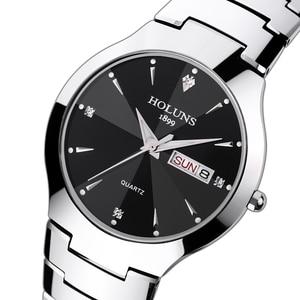 Image 4 - レロジオ masculino 2020 holuns タングステン鋼男性は石英ブランドの高級カジュアルダイヤモンド男性腕時計ドレス防水