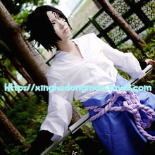 Бесплатная доставка! Саске кимоно костюм от наруто косплей костюмы