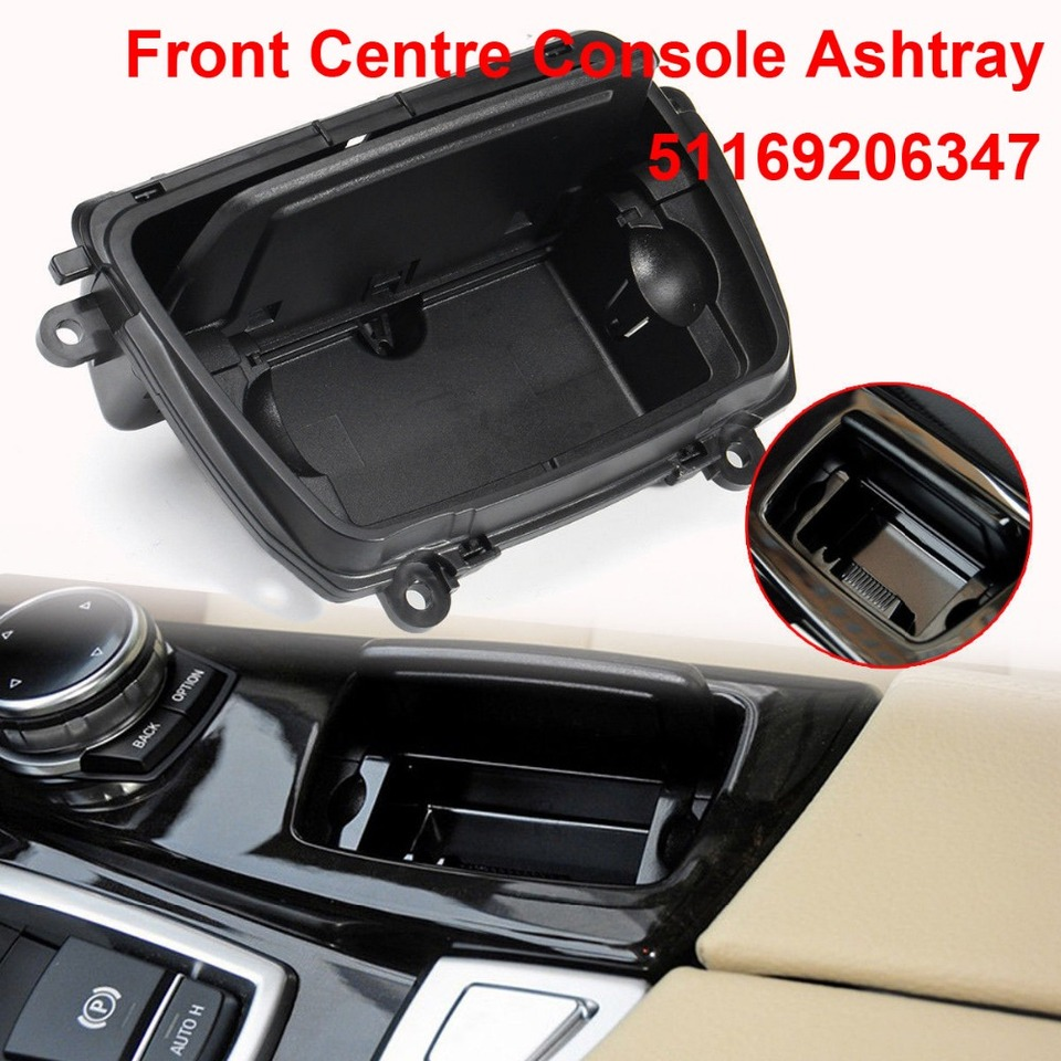 KKmoon Car Front Center Console Ashtray Cover 51169206347 Fit for BMW 5 Serie F10 F11 F18