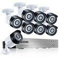 Zosi sistema 8ch cctv cámara de seguridad 8x1080 p cctv cámara 2.0mp cámara de vigilancia kit sistema de camaras de seguridad casa
