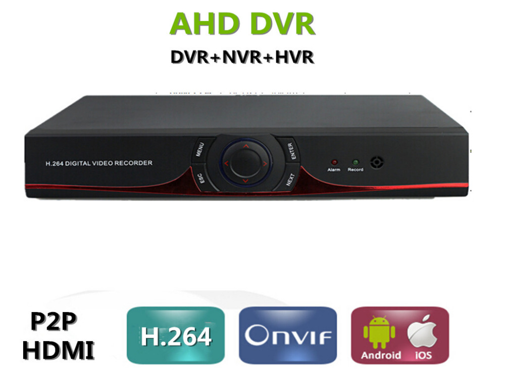 ФОТО 8channel AHD HDMI 1080P Hybrid  AHDM/N DVR recorder supports 720P 960P 1080P AHD and Analog security camera p2p xmeye HDMI