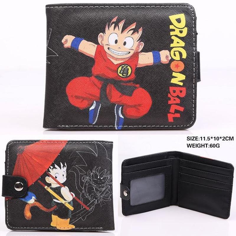 New 2018 Fashion Dragon Ball Z Wallet Japanese Anime Son Goku Genki Dama Shenron Cartoon Wallet Purse Short Wallet For Men Women