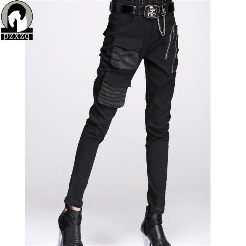 PZXZQ ファッショナブルな女性のヨーロッパスタイルハーレムパンツ黒鉛筆パンツ N 高品質弾性ウエスト伸縮性材料