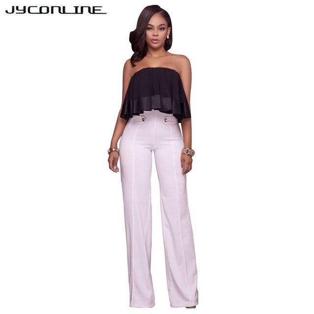 23ea34e5f16d JYConline Casual Office Women Pants High Waist Wide Leg Pants Female  Trousers Work Wear Long Pants For Women European