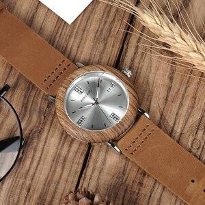 Image 4 - BOBO VOGEL Neueste Damen Holz Uhr Kalender Datum Edelsteine Imitieren Diamant Mode Quarz Uhren für Frauen Holz Box