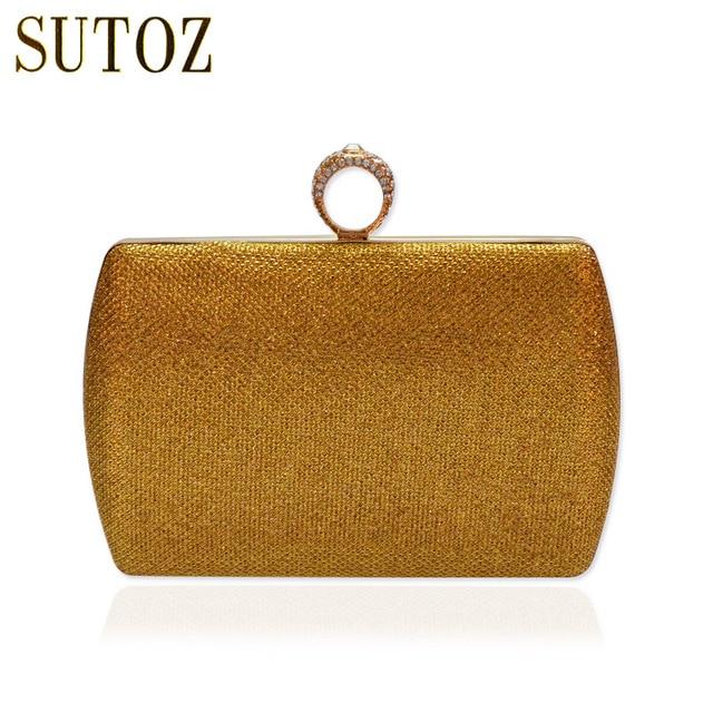Diamond Knuckle Ring Evening Bags Women Clutch Pouch Wedding Bag Chain Messenger Shoulder Crossbody