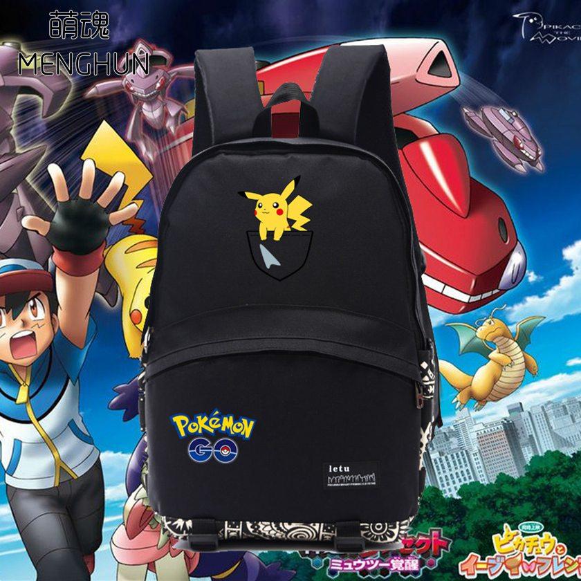 Lovely mini Pikachu trükikooli seljakott lastele Pokemon läheb trükimängu fännidele seljakott nailonist vastupidav koolikott nb061