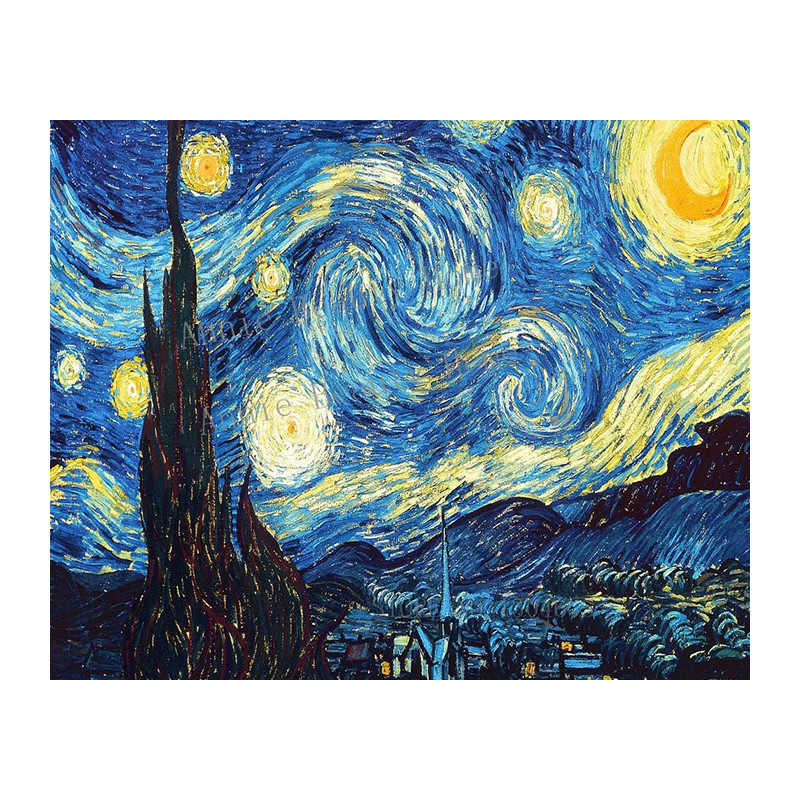 Hause Dekoration 3D DIY Diamant Stickerei Van Gogh Starry Night Kreuz Stich Kit Abstrakte Öl Diamant Malerei Harz WZ