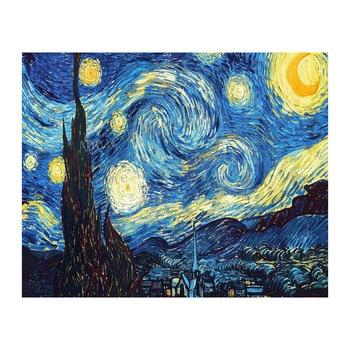 Home Decoration 3D DIY Diamond Embroidery Van Gogh Starry Night Cross Stitch Kit Abstract Oil Diamond Painting Resin WZ
