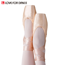 LOVE FOR DANCE New Child And Adult Ballet Shoes Dance Pointe Shoes With Ribbons Woman Ladies Professional Canvas/Flock Shoes(China)