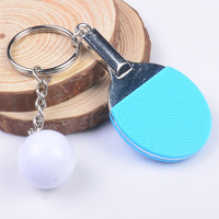 Table Tennis Key Chains Key Rings For Lovers Luxury Door Key Chains Sports Style Mini Ball
