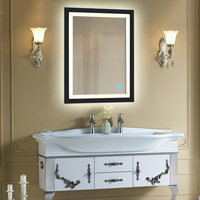 LED Lighted Illuminated Bath Vanity Wall Mirror Touch Cosmetic Makeup Mirror Home Bathroom Decorations Hot Selling HWC