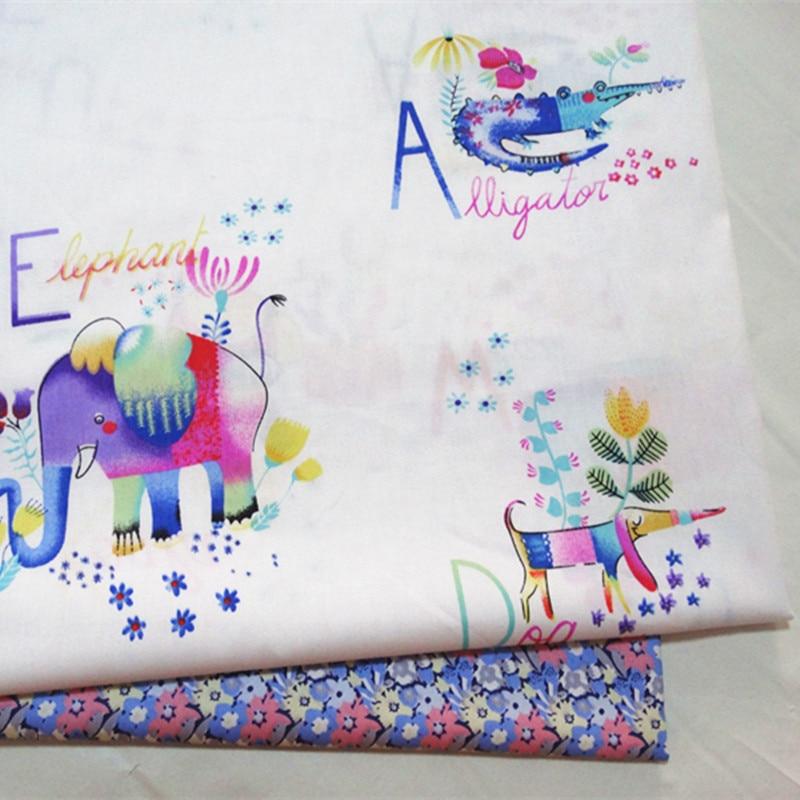 Black Elephants 100/% Cotton Fabric Material BY HALF METRE