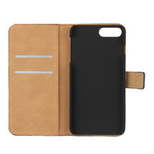 For iPhone Genuine Leather Wallet Flip Case For Apple iPhone 5 5S SE 6 6S 7 8 Plus X Real Purse Phone Bag with Card Slots