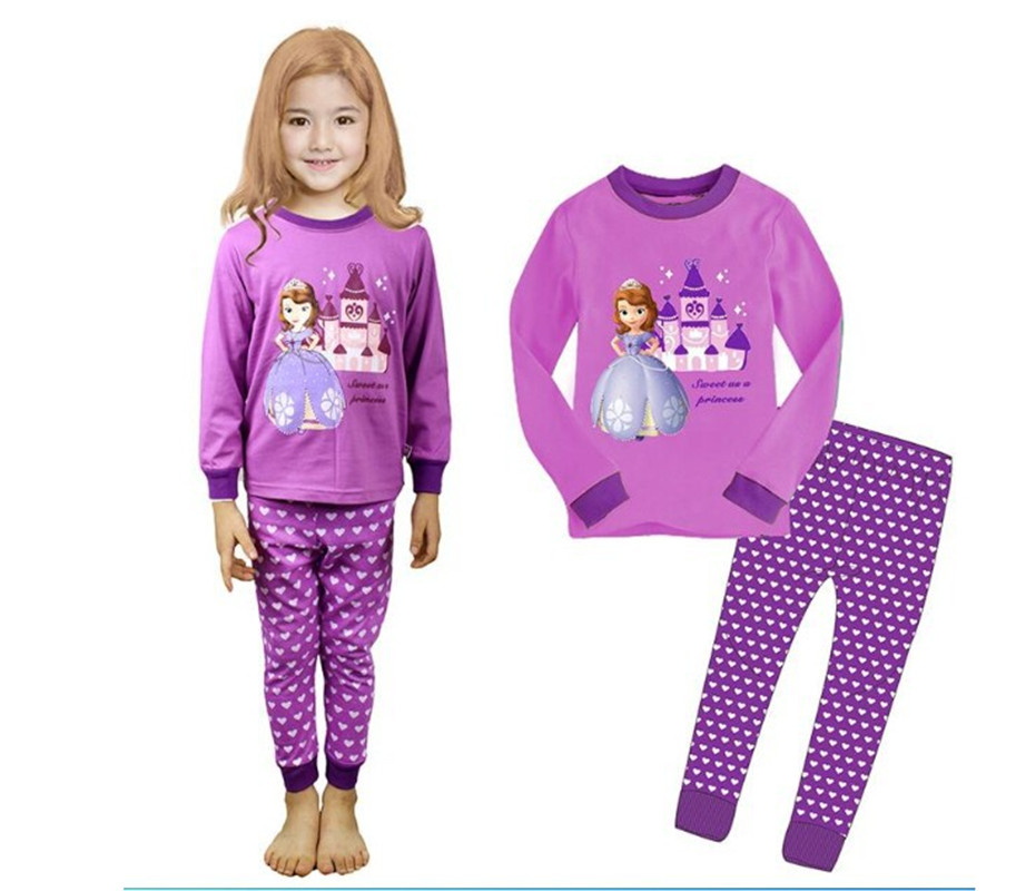 2017 Minnie Cartoon Mouse Baby Toddlers Kids Girls Polka Dots Stripe Nightwear Pajamas Set Sleepwear Homewear Clothing Suit 1