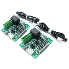 2x W1209 12V DC Digital Temperature Controller Board Mini Electronic Temperature Temp Control Module Switch Green