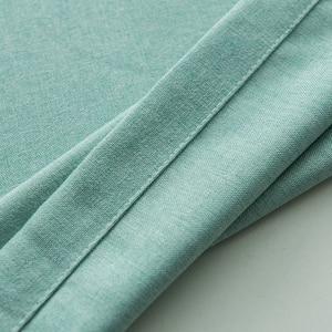 Image 4 - Cortinas opacas de Color turquesa para dormitorio, decoración de oficina, moderna, para ventana, sala de estar