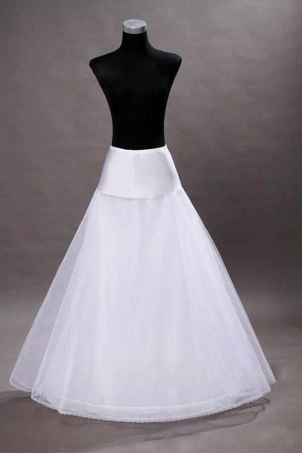 זול 100% איכות גבוהה קו שכבות 1-חישוק שמלת טול חתונת כלה תחתונית התחתוניות קרינולינות לחתונה